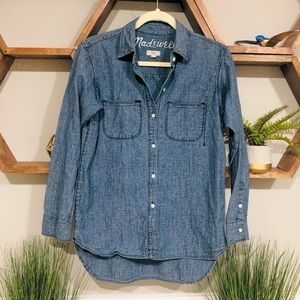 Madewell Button Down Denim Shirt XS